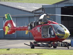 G-KRNW Eurocopter EC135 Helicopter (Aircaft @ Gloucestershire Airport By James) Tags: gloucestershire airport gkrnw eurocopter ec135 helicopter egbj james lloyds