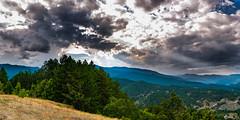 Sunset Time (Giannis D. Zacharis) Tags: sunset landscape mountains clouds blue sky weather forest seasons colors nikon d610 greece