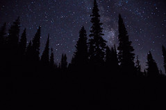 The Stars Between (linili101) Tags: mountrainier mtrainier washingon nationalparks america nightsky stars