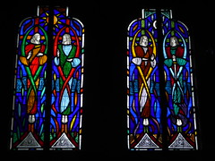 Archangel Windows (Aidan McRae Thomson) Tags: rugby church catholic stainedglass window warwickshire aidanmcraethomson