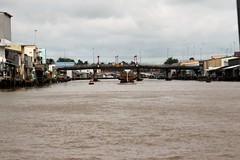 IMG_4445a - enroute from Ci B to Saigon (Ho Chi Minh City), Vietnam (Wayne W G) Tags: cib vietnam asia southeastasia caibe avalon boat boats river rivers mekong bridge bridges