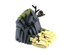 Sandy Bird (noel.peterson) Tags: lego vignette bird beach rockwork