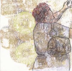 # 233 (20-08-2016) (h e r m a n) Tags: herman illustratie tekening bock oosterhout zwembad 10x10cm 3651tekenevent tegeltje drawing illustration karton carton cardboard vrouw woman camera foto fotograaf photographer photo iphone telephone telefoon mobilephone mobile mobiel