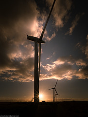 Wind Turbines at Sunset (SimonBaker5) Tags: wind d750 oxfordshire sunset 20mm windfarm evening silohet clouds countryside silhouette uk england turbine shrivenham renewableengergy windturbine windgeneration