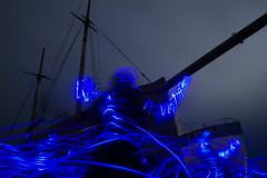 Sirens Call (jannepaint) Tags: lightpainting lightdrawing longexposure ghostship ghost gothic siren flyingdutchman