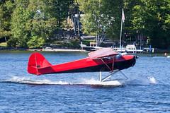Private Taylorcraft BC12-D1 NC44317 (jbp274) Tags: greenville greenvilleseaplaneflyin flyin 52b airplanes seaplane floatplane lake water taylorcraft bc12 mooseheadlake