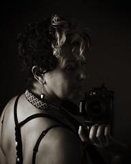 IMG_3502 (giltay) Tags: blackwhite blackandwhite sepia georgette portrait pentaxk10d takumarsmc55mmf18 topw topwppl torontophotowalks torontophotowalksportraitsandpotluck