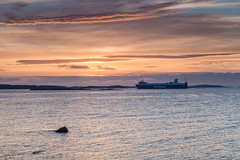 Morning at the Sea (Tuck Happiness) Tags: helsinki finland sunrise ocean sea finnlines ship water cloudy landscape