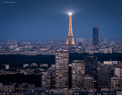Paris (Julianoz Photographies) Tags: architecture nanterre puteaux 92 monument invalides eiffeltower toureiffel montparnassetower tourmontparnasse cityscape villelumire capitale capital city church immeubles buildings btiment julianozphotographies bluehour heurebleue paris france europe europa