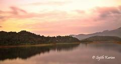 Golden (Sajith Kurian) Tags: sunrise wayanad gods own country kerala india canon7d canon24105 morning sun orange pink hills clouds water backwater lake sajithkurian sajith hdr hoyand400