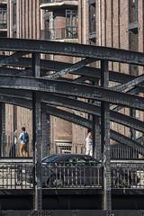 the wall - heavy metal version (the-father) Tags: bridge iron brick wall rivet evi car speicherstadt hamburg germany