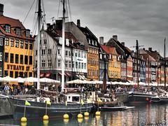 Aspects of Copenhagen 066 - Nyhavn 07 (Row 17) Tags: denmark copenhagen capital city urban quay wharf boats boat boatsships touristattraction buildings building water waterway waterways waterfront