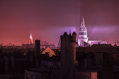 IMG_0177 Autumn (Sakuto) Tags: church poland poznan knowhow autumn city lightpollution light color night cross smoke smog chimney modded