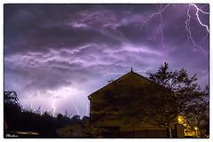 Lightning from my front door.. (stblackburn) Tags: lightning storm thunder sky nature