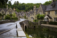 Austensibly Jane III: They walked on (chris.ph) Tags: bridge castlecombe houses architecture village england janeausten road reflection