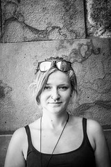 S. @ Dresden (Tom Berger LBF) Tags: tberger t berger canon70d dresden 2016 urlaub girl woman portrait 70d 50mm lightroom black white bnw schwarz weis sachsen germany deutschland punk new portraitmood realism follow4follow flickr fotocomunity no flash noflash nature hair dreads blue eyes blonde art