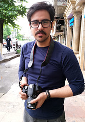 Novice Photographer (Kombizz) Tags: 093311 kombizz tehran iran 2016 1394 mobilephonetaking mobilephonecapture novicephotographer canon eos eos700d moustache tajrish photographer portrait mehdi glasses