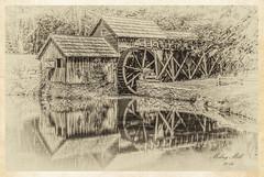 Mabry Mill Sepia (raddad! aka Randy Knauf) Tags: raddad6735212 raddad randyknauf raddad4114 randy knauf blueridgemountains blueridgeparkway marbymill grainmill mill gristmill mabrymill