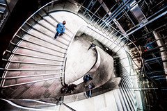 Escher-esque (Sean Batten) Tags: nikon d800 1424 onenewchange city urban shopping shoppers architecture stairs spiral streetphotography street london england uk unitedkingdom