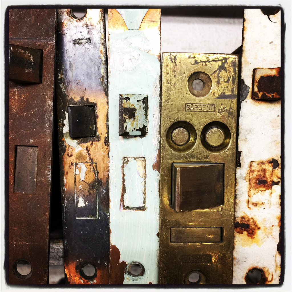 Hardware (Richard Walker   Seattle Photographer) Tags: Door Hardware Lock  Seattle Old Vintage