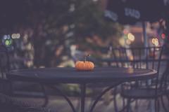 Fall is here! (jm atkinson) Tags: purple pumpkin dining outside table fall maine damariscotta