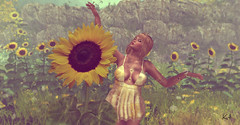 Make Me Like You... (Katie's Picz) Tags: vision mina darkmagicposes sunflowers pm wonderer metallic tattoo