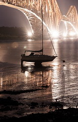 IMG_0062 (J Killick) Tags: longexposure bridge night scotland boat edinburgh purple forth 2012 tideout queensferry northqueensferry forthrailbridge