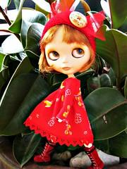 Margot in red