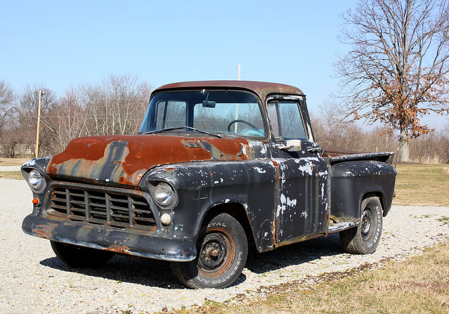 rust rusty indiana 1956chevroletpickuptruck
