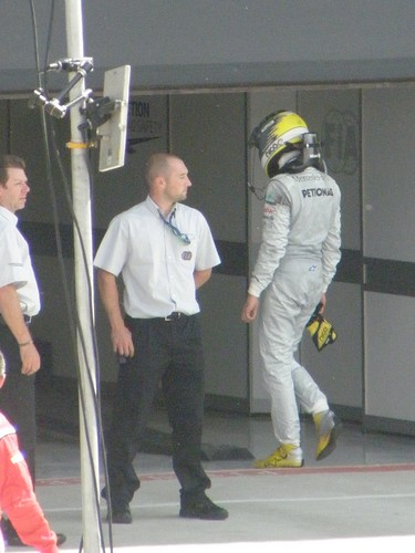 Nico Rosberg after the 2011 British Grand Prix at Silverstone