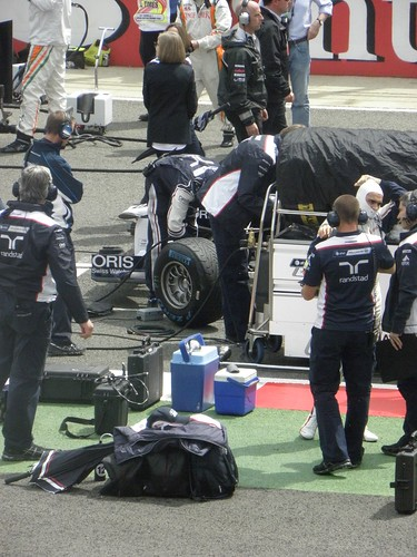 Pastor Maldonado ahead of the 2011 British Grand Prix