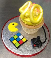 80s Retro Birthday Cupcake