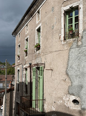 Village Windows (dcnelson1898) Tags: travel france town europe rustic dordogne hilltop walledtown aquitaine nontron