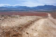 Road to Playa de los Genoveses. (Alessandro Omassi) Tags: road mountain spain path andalucia 2012 sanjosè playadelosgenoveses cabodegatanijar