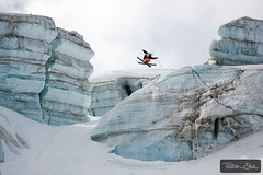 Candide Thovex out of nowhere into nowhere (Tristan Shu) Tags: people mountain ski france mountains alps ice sports sport canon jump freestyle action extreme 360 glacier tweak chamonix freeride description saut glace frenchalps merdeglace extrem hautesavoie valleblanche 24105 lequipe rhonealpes summits serac freeski 24105mm xtrem candidethovex canon50d wwwtristanshucom lequipemagazine coreupt sracs