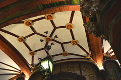 Coffeebar Ceiling @ Palau De La Musica Catalana [Barcelona - 14 September 2012] (Doc. Ing.) Tags: barcelona spain unesco catalunya modernismo 2012 worldheritage barrigtic ciutatvella palaudelamusicacatalana