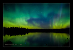 Aurora Reflection - Eagle Wings (Bruce-T-Smith) Tags: reflection eagle northernlights auroraborealis