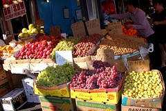 Street Fruits Stand (Prayitno / Thank you for (11 millions +) views) Tags: street new york city nyc red ny newyork green fruits shop fruit stand market chinese grapes vendor grape lychee flushing longan konomark