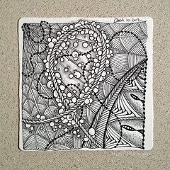 string 22 (shebicycles) Tags: pen ink tile doodle tps overthinking zentangle string22