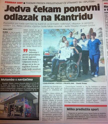 Jedva čekam ponovni dolazak na Kantridu (Novi List, 19.10.2012)