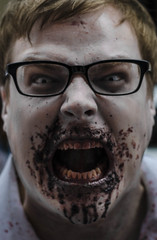Hungry (Black_Tux) Tags: toronto zombie makeup zombiewalk torontozombiewalk2012
