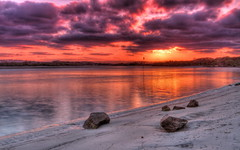 Fire in the Sky HDR (chin8y) Tags: sunset beach river qld hdr sunshinecoast maroochydore photomatix sunshinecoastqld southmaroochyriver