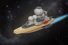 SRS-22 Von Clausewitz (pasukaru76) Tags: life sdr lego space spaceship mak warship shuttles moc strahl canon100mm microscale commandship