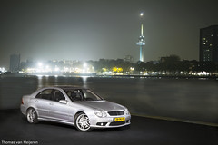 Mercedes-Benz C 55 AMG (Thomas van Meijeren) Tags: lighting black cars water canon river grey mercedes rotterdam nikon shoot photoshoot erasmus thomas interior c wheels grill turbo mercedesbenz 7d multiple 5d van maas 55 rims softbox v8 v10 euromast erasmusbrug amg reportage v6 v12 merc c32 cdi flashes biturbo erasmusbridge d600 c55 d90 c30 d700 meijeren