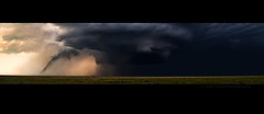 The Twister and the Mothership (Matt Grans Photography) Tags: panorama storm oklahoma weather clouds colorado extreme stormy panoramic chase campo rotation thunderstorm twister tornado thunder mothership chasing instability chaser centralplains supercell boisecity