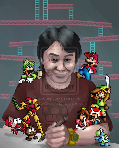 Shigeru Miyamoto, obra de Andrew Dobson