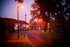 (drfugo) Tags: road street morning autumn houses light england lamp lines sussex bokeh depthoffield explore lampost crawley threebridges explored canon5dmkii nikon55mmf12s nikkors55mmf12typeiv