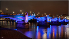 London Southwark Bridge (meypictures) Tags: city uk bridge england color london night photoshop reflections river nikon nightshot cathedral stpauls kirche sigma brcke hdr southwark ilumination southwarkbridge photomatix d5000 thamses