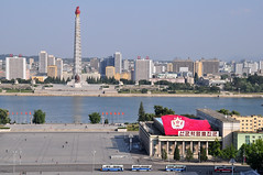 DSC_0098 (yackshack) Tags: travel tower nikon asia asien north korea explore turm pyongyang corea dprk coreadelnorte juche nordkorea kimilsungsquare d5000 coredunord coreadelnord   pjngjang dvrk