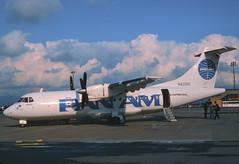 Pan Am Express ATR 42-300; N4201G@BSL, October 1987/BXC (Aero Icarus) Tags: plane aircraft flugzeug panam bsl avion basle slidescan euroairport atr42 panamexpress n4201g